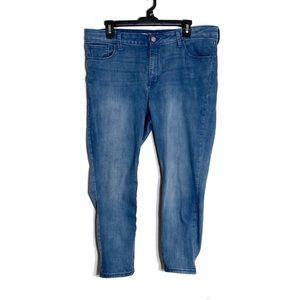 Old Navy Rockstar Jeans Light Wash Ankle Length